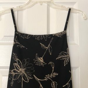 Medium All That Jazz Long Black Flowered Dress